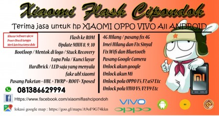 Jasa Flash All HP Xiaomi Cipondoh - Tangerang