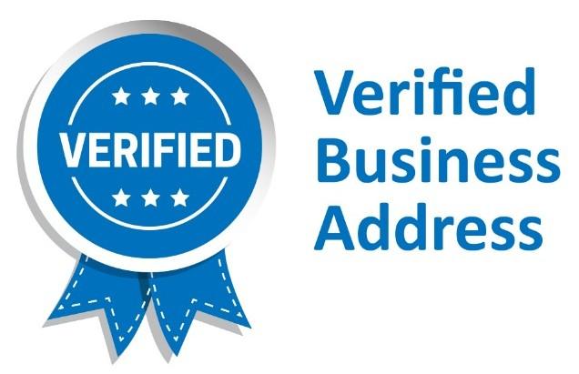Verified business address